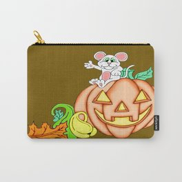 Fall Time Fun Mouse and Pumpkin Carry-All Pouch