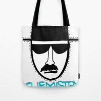 chemistry Tote Bags featuring Chemistry by John Michael Gill