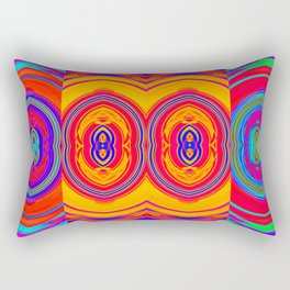 Colorful Abstract Pattern Rectangular Pillow