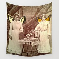 fairies Wall Tapestries featuring Winter Fairies by Apples and Spindles