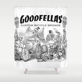 Goodfellas Custom Bicycle Brigade - Calaveras Logo Shower Curtain