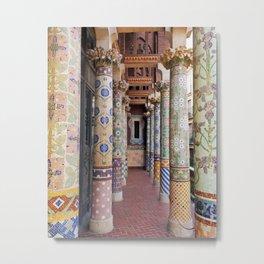 Barcelona Spain Pillars Metal Print
