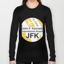JFK Round yellow Long Sleeve T-shirt