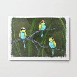 Bee-eaters Metal Print