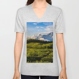The Chugush 4k Caucasus mountains summer Adygea Russia Asia beautiful nature Unisex V-Neck