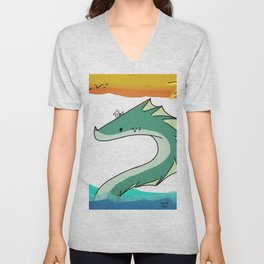 Sea Serpent Unisex V-Neck