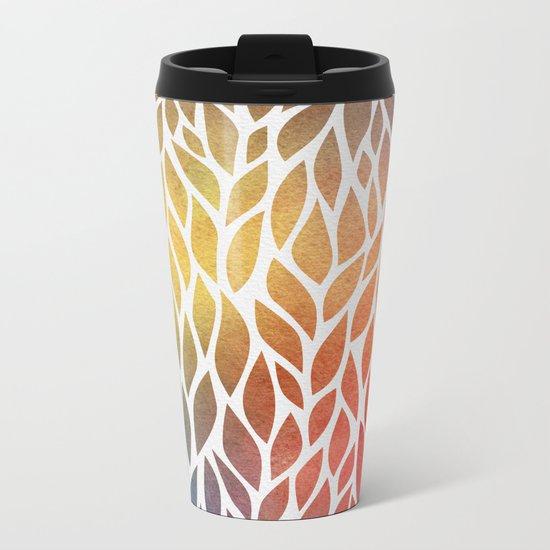 Petals Pattern #4 Metal Travel Mug