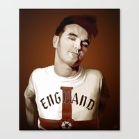 the smiths Canvas Prints featuring The Smiths singer by Studio Caro △