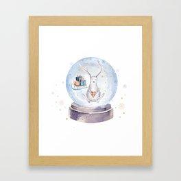 Christmas bunny #3 Framed Art Print