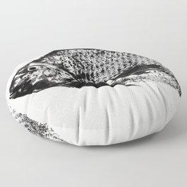 gyotaku - koi fish Floor Pillow