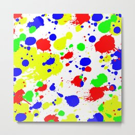 Colorful Paint Splatter. Metal Print