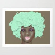 emogirl earth Art Print
