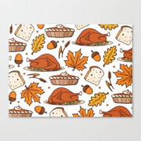 thanksgiving Canvas Prints featuring thanksgiving by Ceren Aksu Dikenci