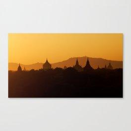 Sundown in Myanmar Canvas Print