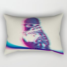 Bird Hair Day Rectangular Pillow