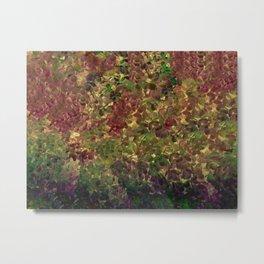 Floral Fantasy Fall Abstract Metal Print