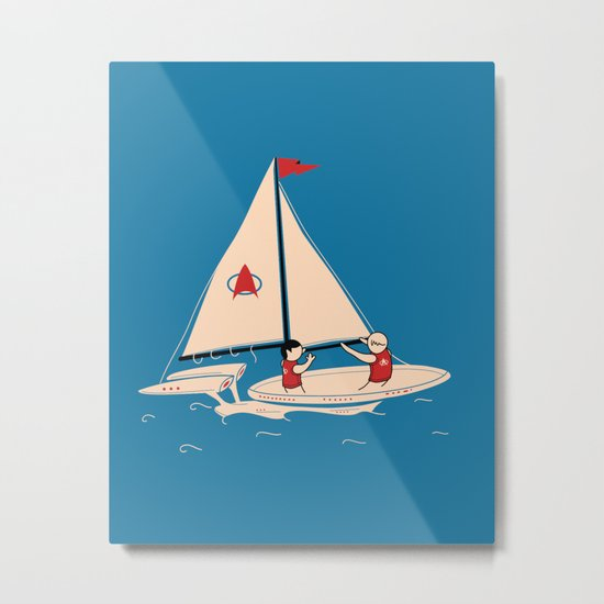 Sailing Towards Future Unknowns Metal Print