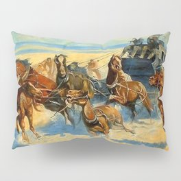 """Frederic Remington Western Art """"Downing the Nigh Leader"""" Pillow Sham"""