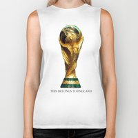world cup Biker Tanks featuring World Cup by Rothko