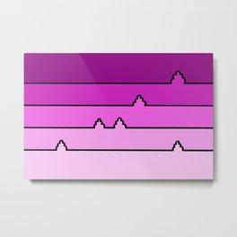 Landscape in Pink Metal Print