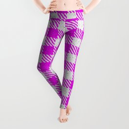 Magenta or Fuchsia Buffalo Plaid Leggings