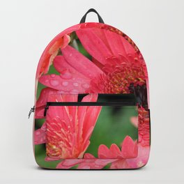 Pink Gerber Daisy Trio Backpack