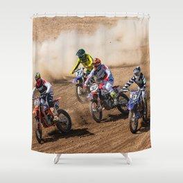 Motocross race Shower Curtain
