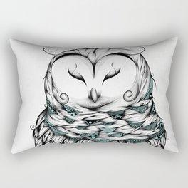 Poetic Snow Owl Rectangular Pillow