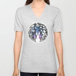 Moonlight Bunny Star Gazer Unisex V-Neck
