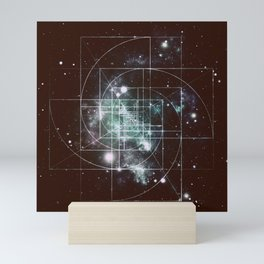 Galaxy Sacred Geometry: Golden Mean dark Mini Art Print