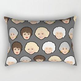 Golden Girls Grey Pop Art Rectangular Pillow