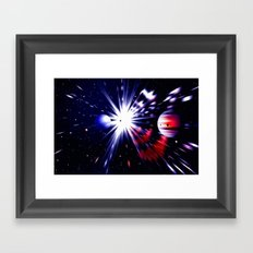 Interstellar worlds. Framed Art Print