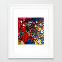 inner demons Framed Art Prints featuring Her Inner Demons by TB8S Design