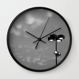 Light up the cotton balls in the sky Wall Clock