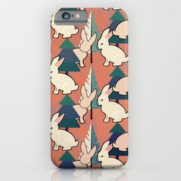 Bunnies and Trees 1 iPhone Case