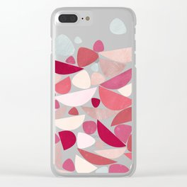 Sea Bed Mid Century Modern Abstract Clear iPhone Case