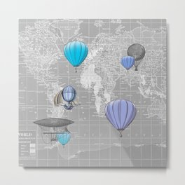 Travel the World Metal Print
