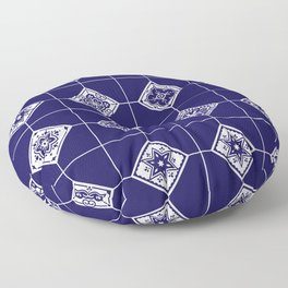 Talavera Mexican Tile – Porcelain Palette Floor Pillow