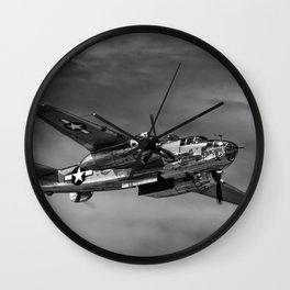 North American B-25 Mitchell Wall Clock