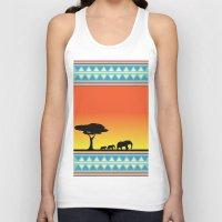 safari Tank Tops featuring Safari by gdChiarts
