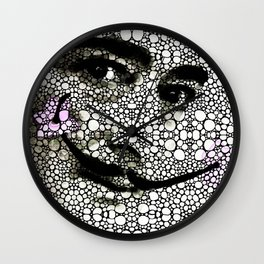 Salvador Dali - Surreal - Stone Rock'd Art By Sharon Cummings Wall Clock