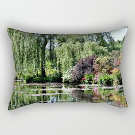 Monet's Garden 2 Rectangular Pillow