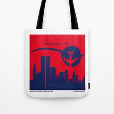 No219 My Escape from New York minimal movie poster Tote Bag