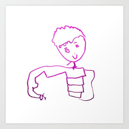 The Little Prince   Elisavet first drawing Art Print