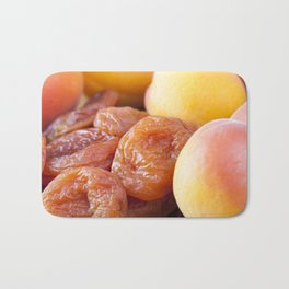very dried apricots Bath Mat
