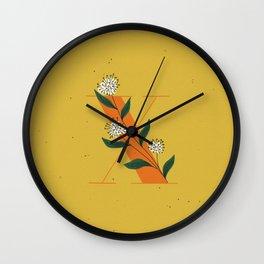 X for Xylosma Wall Clock
