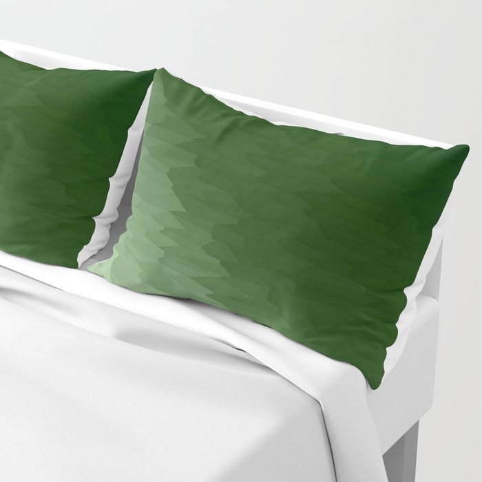 Green Ombre Texture Pillow Sham