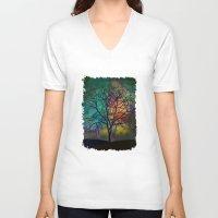 karu kara V-neck T-shirts featuring Celestial Phenomenon by Klara Acel