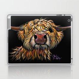 Scottish Highland Cow ' POPEYE ' by Shirley MacArthur Laptop & iPad Skin