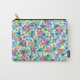 Pink beneath Square-Confetti Carry-All Pouch